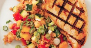 Zesty Couscous with Grilled Chicken
